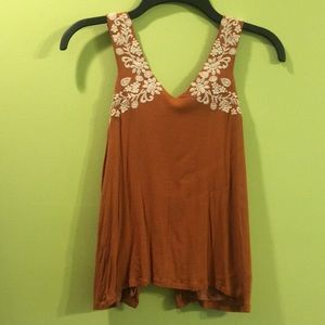 La Hearts pacsun embroidered tank open back med